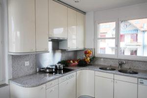 Küche und Gemeinschaftsraum in der Pflegewohnung Weitblick von Spitex Futura24 in Winterthur Wülflingen